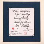 Calligraphy - with uniform equanimity