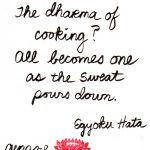 Calligraphy - the dharma of cooking